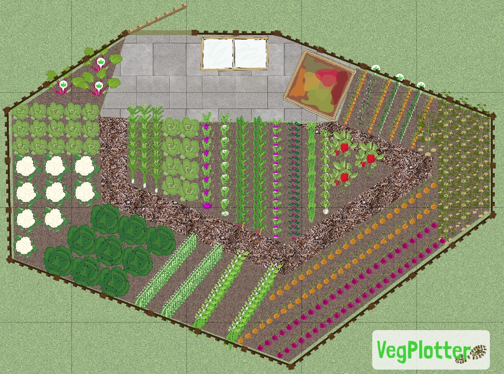 We've added some new features to VegPlotter that allow you to make out areas of your allotment or vegetable garden plans