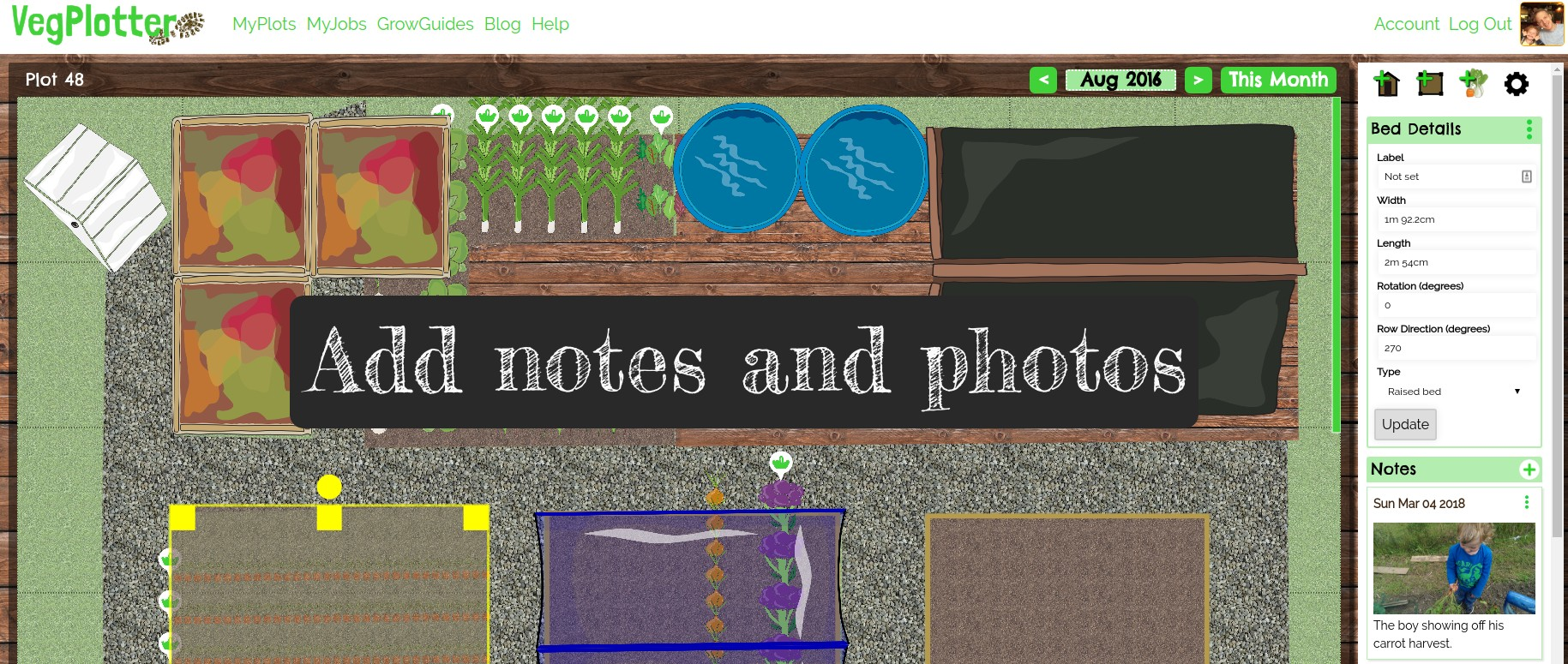 We're added some new features to our vegetable garden planner.
