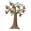 Icon showing Apple Tree