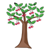 Icon showing Cherry tree